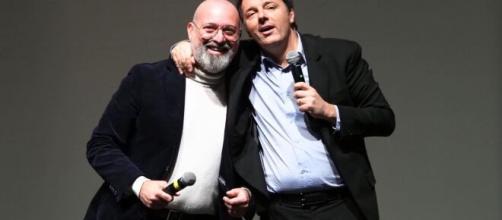 Stefano Bonaccini e Matteo Renzi.