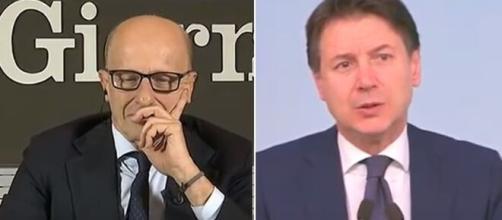 Alessandro Sallusti torna a criticare Giuseppe Conte.