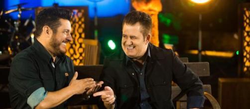 Bruno e Marrone juntos durante live. (Arquivo Blasting News)