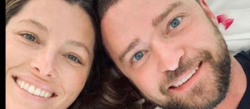 Justin Timberlake con la moglie Jessica Biel.