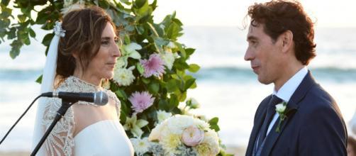 Paz padilla y su marido en imagen de boda