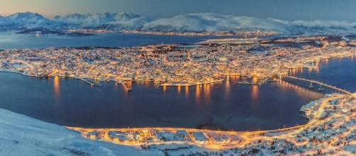 Tromso by night - this picture was taken by David Adair
