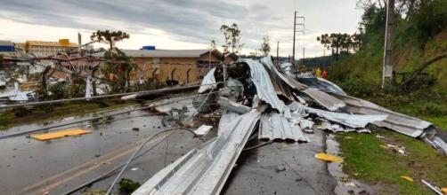 Ciclone Bomba foi agressivo na região oeste de SC. (Arquivo Blasting News)