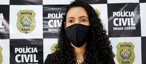 Delegada detalhou crime cometido contra menina de 9 anos em Contagem/ MG. (Divulgação/Polícia Civil-MG)