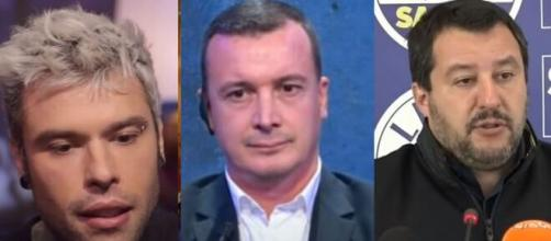 Fedez, Rocco Casalino e Matteo Salvini.