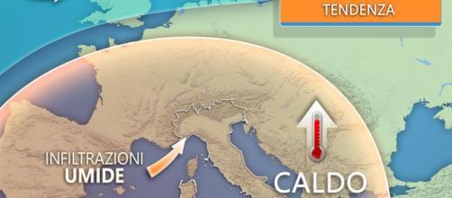 Meteo: caldo africano con punte di 40 gradi, a Nordest temporali tra 24 e 25 luglio.