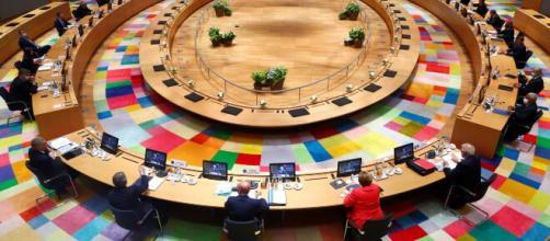 Sala del plenario de la Cumbre Europea