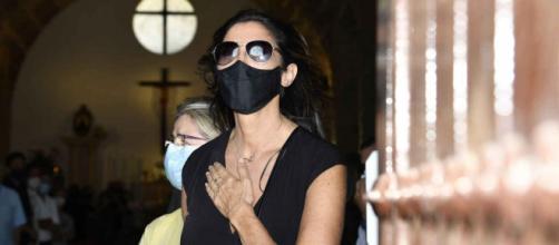 Paz Padilla en el funeral de su marido, Juan Vidal