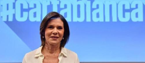 La conduttrice di Cartabianca, Bianca Berlinguer.