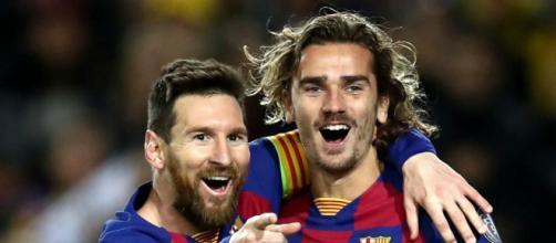 Lionel Messi e Antoine Griezmann.
