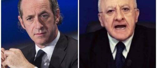 Sondaggio Winpoll: Luca Zaia e Vincenzo De Luca sono i governatori maggiormente apprezzati.