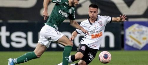 O Palmeiras está na segunda colocação do grupo B com 19 pontos. (Divulgação/Rodrigo Coca/Agência Corinthians)