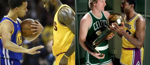Warriors x Cavaliers e Celtics x Lakers são consideradas as maiores rivalidades da NBA de todos os tempos. (Arquivo Blasting News)