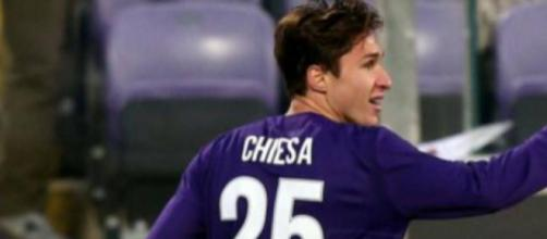 Federico Chiesa, centrocampista offensivo della Fiorentina.