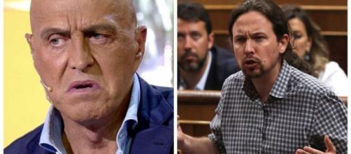 Kiko Matamoros y Pablo Iglesias en imagen