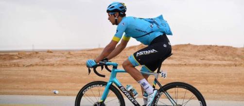 Davide Martinelli in maglia Astana