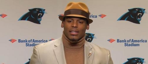 Newton signed an incentive-laden one-year deal with Patriots (Image Credit: Carolina Panthers/YouTube)