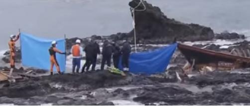 North Korean 'ghost ships' wash up in Japan. [Image source/CNN YouTube video]