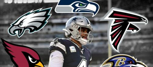 As aves estão entre os destaques como mascotes dos times da NFL, que são 5: Eagles, Raves, Seahawks, Cardinals e Falcons. (Arquivo Blasting News)