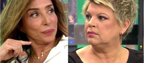 María Patiño y Terelu Campos, un ejempo de las malas relaciones en Sálvame