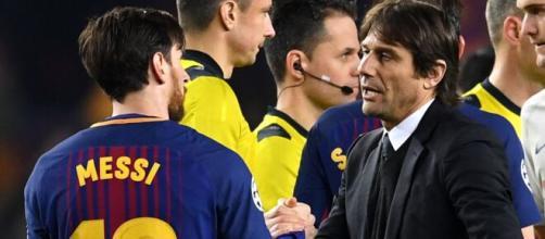 Antonio Conte hails Lionel Messi.   Leading Reporters - leadingreporters.com