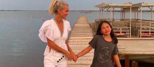 Laeticia Hallyday : Jade de retour à Saint-Barth pour fêter l'anniversaire de Joy - Photo compte Instagram Laeticia Hallyday