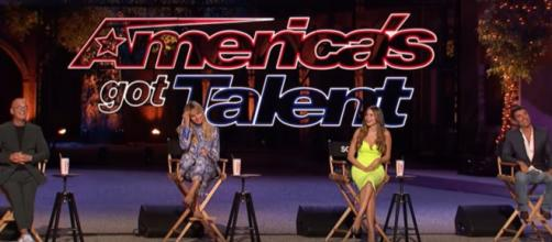 """America's Got Talent"" takes a big screen and social distance seriously for Season 15 Judge Cuts.[Image source:AGT-YouTube]"