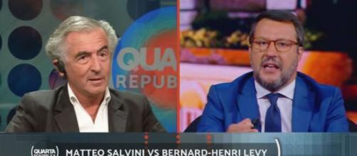 Il filosofo francese Bernard Henry Lévy critica Matteo Salvini in un'intervista alla Stampa.