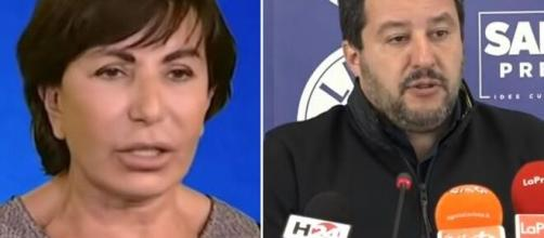 Maria Rita Gismondo e Matteo Salvini.