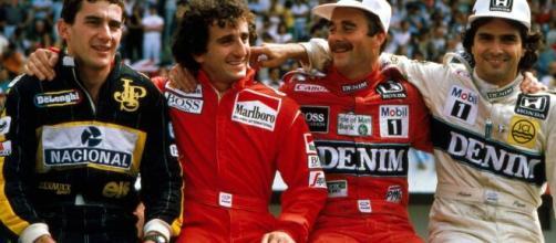 Senna, Prost, Mansell e Piquet formaram uma das grandes rivalidades da Fórmula 1. (Arquivo Blasting News)