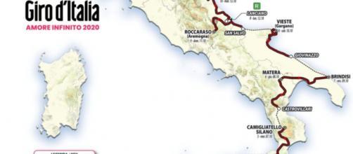 La parte di percorso del Giro d'Italia 2020 che è stata ridisegnata