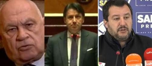 Carlo Nordio, Giuseppe Conte e Matteo Salvini.