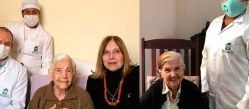 Irmãs de 100 e 96 anos vencem Covid-19. (Arquivo Pessoal)