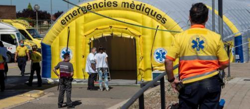 Nuevo confinamiento: Hospital de campaña montado junto al Hospital Universitario Arnau de Vilanova de Lleida