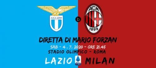 Serie A: Lazio - Milan chiude il sabato della 30a di serie A