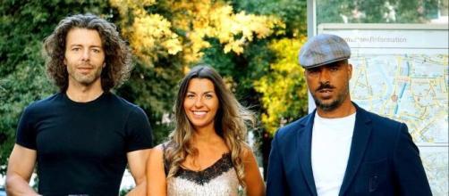 Claudia Conte, Francesco Testi e Angelo Paradiso durante le riprese.