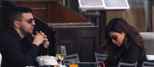 Diego Granese e Mila Suarez a pranzo a Milano.