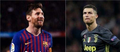 Nella foto Leo Messi e Cristiano Ronaldo.