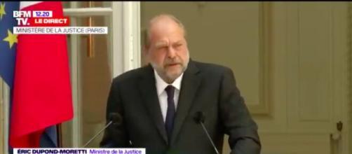 Eric Dupond-Moretti un premier discours qui déchaine Twitter - Photo capture d'écran Video