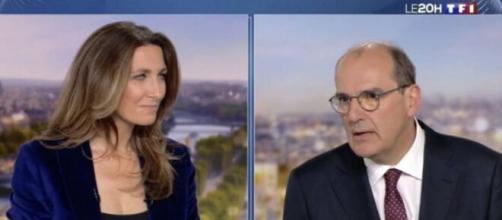 Le nouveau premier ministre s'agace sur le plateau de TF1 : Photo capture d'écran 20h de TF1