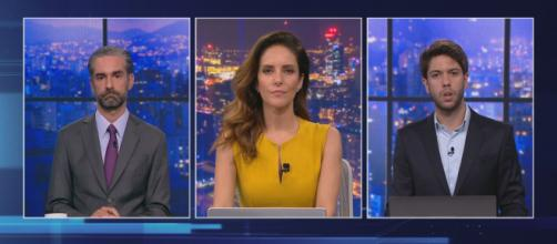 Caio Coppolla e Augusto Botelho levam 'bronca' de Monalisa Perrone, mediadora do debate. (Arquivo Blasting News)