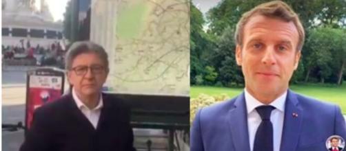 Jean-Luc Mélencho répond à Emmanuel Macron et c'est trés gênant - photo montage captures d'écran
