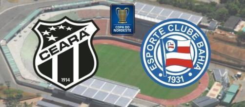 Ceará x Bahia: transmissão ao vivo neste sábado, às 16h. (Arquivo Blasting News)
