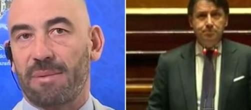 L'infettivologo Matteo Bassetti e Giuseppe Conte, premier di un governo che ha prolungato lo stato d'emergenza.