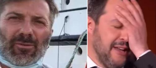 Riccardo Gatti portavoce di Open Arms e Matteo Salvini.