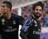 Cristiano Ronaldo e Isco, quest'ultimo piace molto a Pirlo.