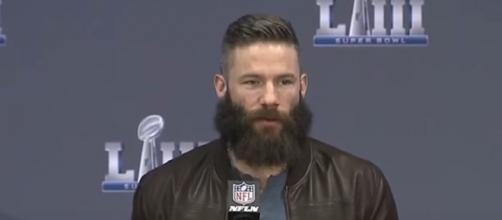 Edelman's 36 career touchdown receptions were thrown by Brady (Image Credit: New England Patriots/YouTube)