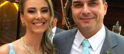 Flavio Bolsonaro e sua esposa Fernanda Bolsonaro. (Arquivo Pessoal)