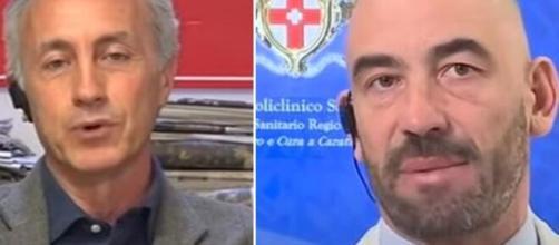 Marco Travaglio e Matteo Bassetti.