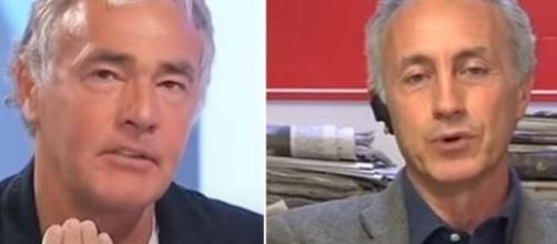Massimo Giletti e Marco Travaglio.